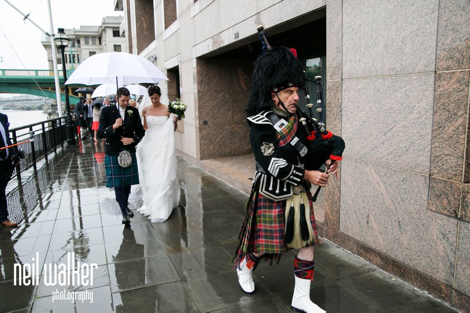 Scottish piper wedding London