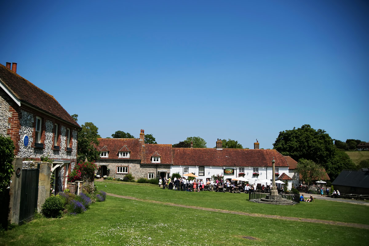a photo of the Tiger Inn in East Dean across the village green