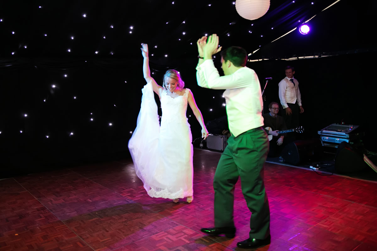 the bride & groom dance