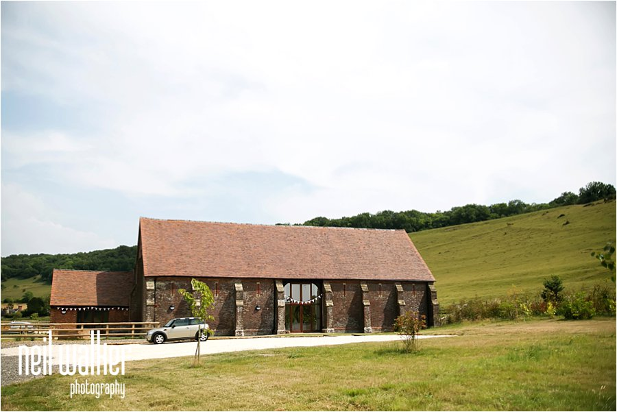Long Furlong Barn Sussex exterior wedding venue