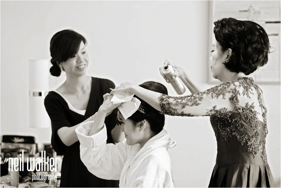 bridal make up at the Four Seasons in Canary Wharf