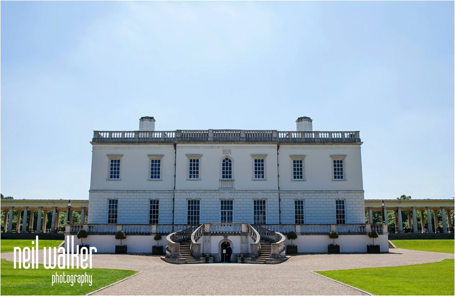 The front of the Queen's House in Greenwich