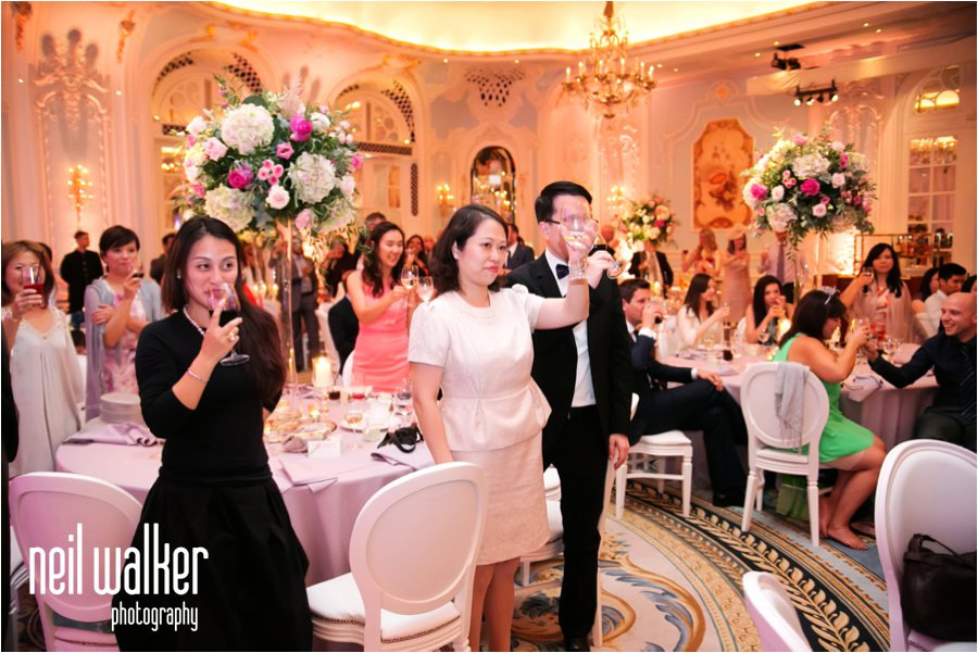 A wedding at the Savoy Hotel in London