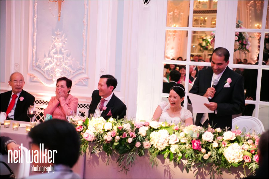Wedding speeches at the Savoy Hotel in London