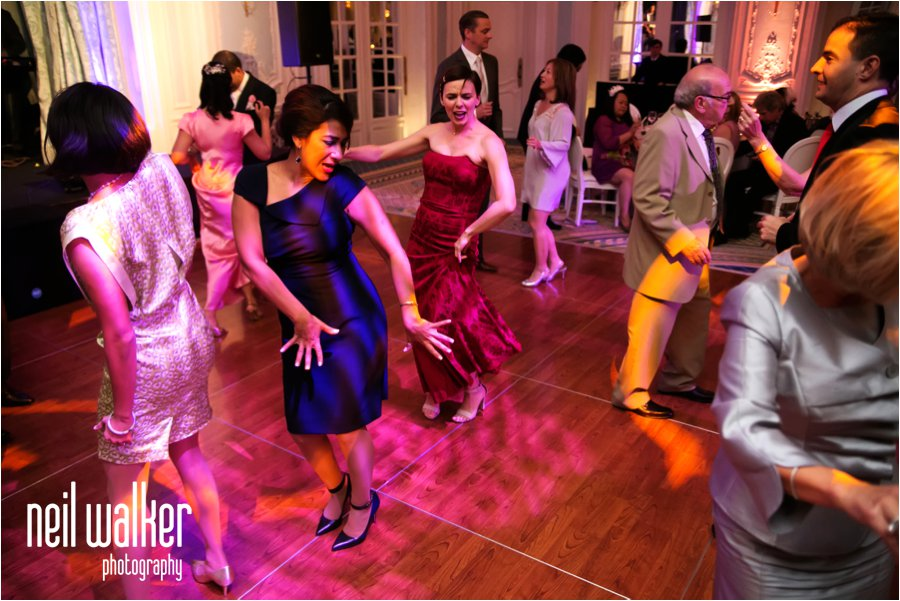 Dancing at a wedding at the Savoy Hotel in London