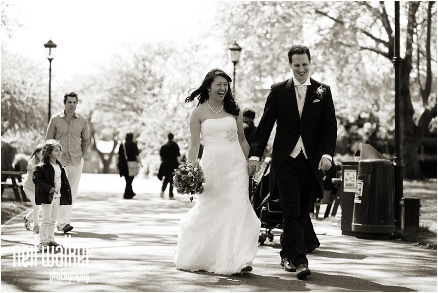 bride & groom at London Zoo wedding
