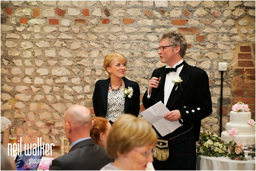 Speeches at a Farbridge Wedding