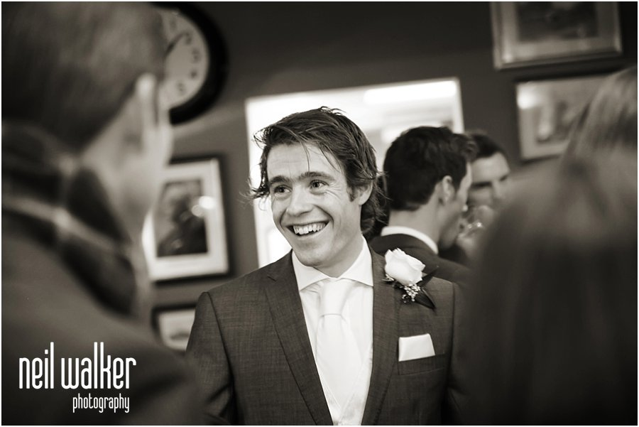 Groom in the pub London wedding