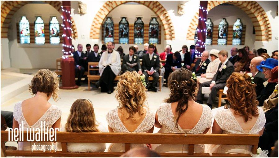 Bridesmaids at a London wedding