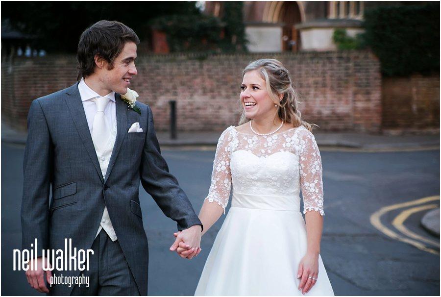 Bride & groom at a London wedding