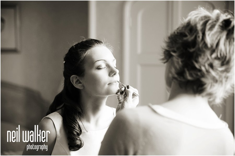 Bridal preps at Horsted Place