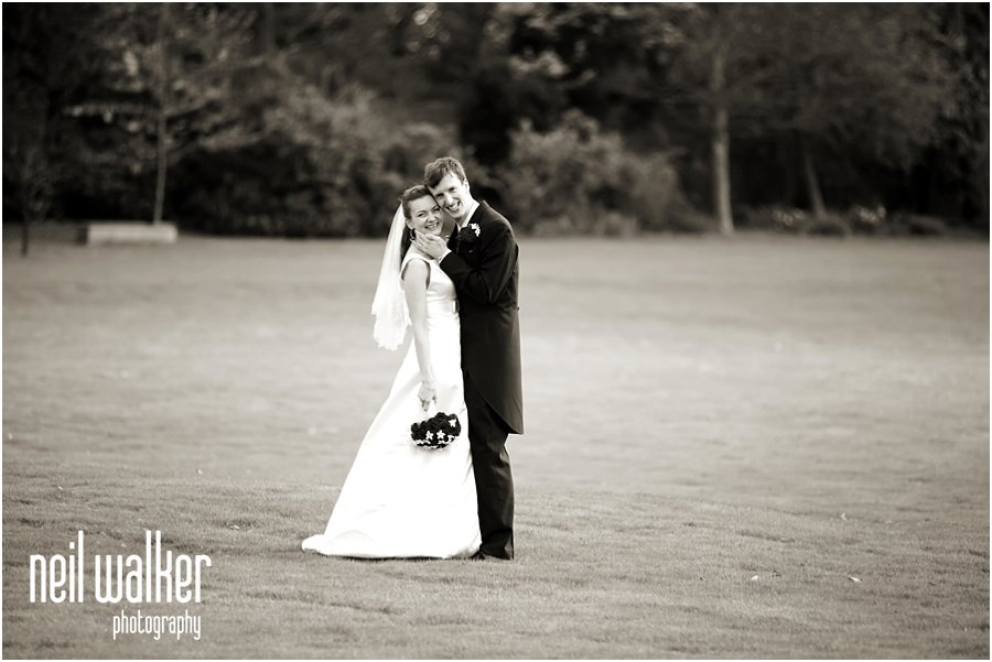 A bride & groom at Horsted Place