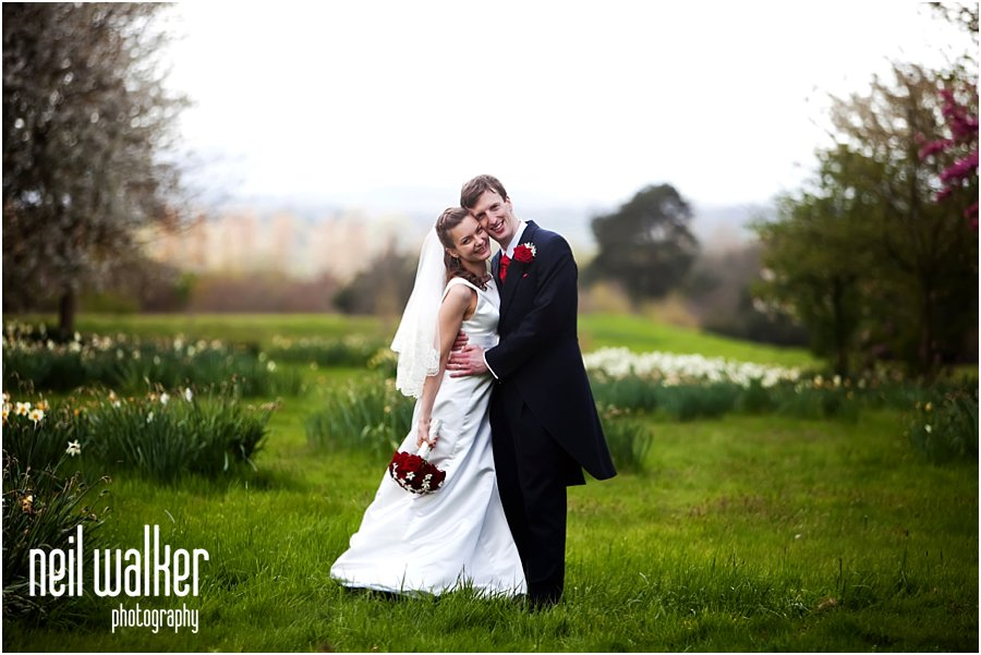 Bride & groom photos at Horsted Place