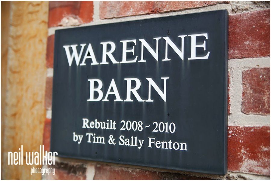 Warenne Barn sign