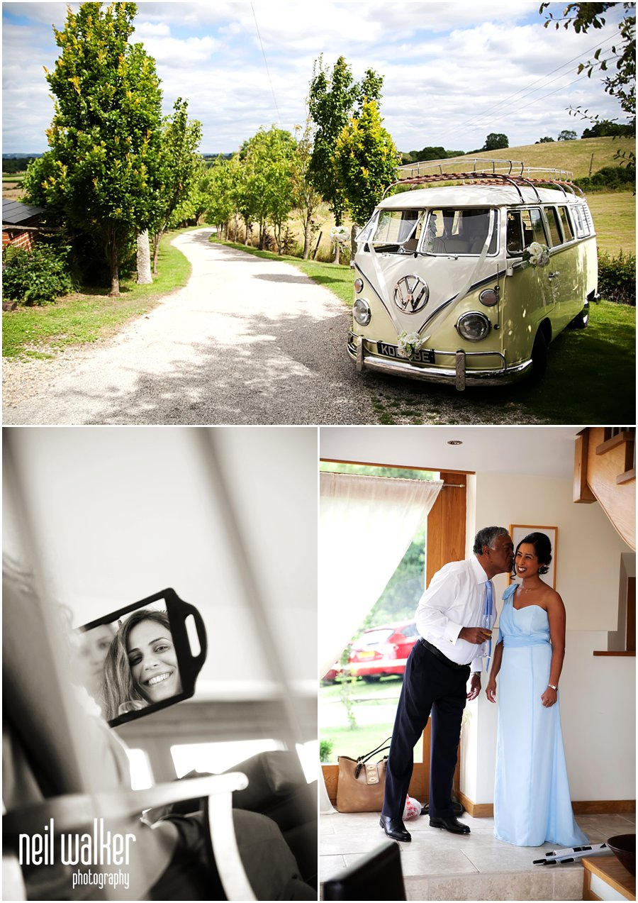 a photo of a VW wedding camper