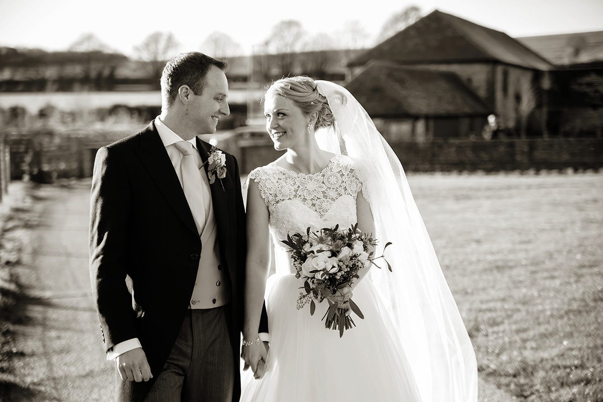 a bride & groom at Farbridge
