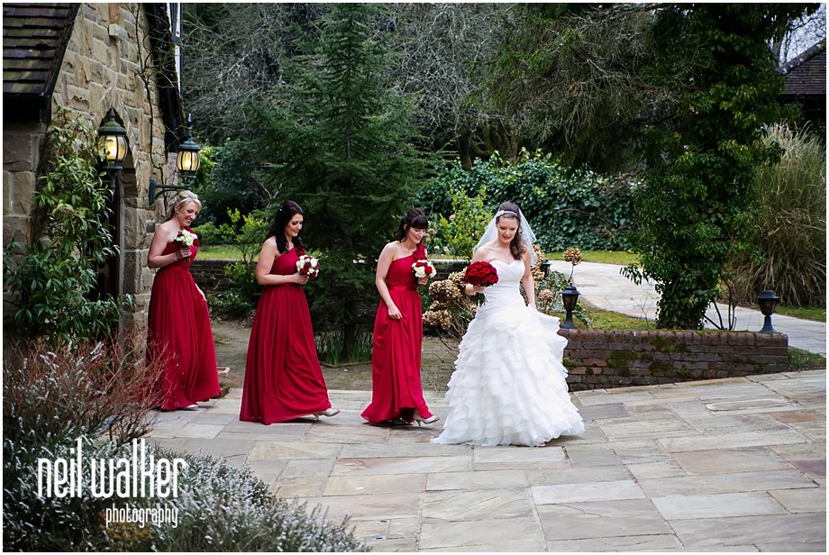 A bride & her bridesmaids in Sussex