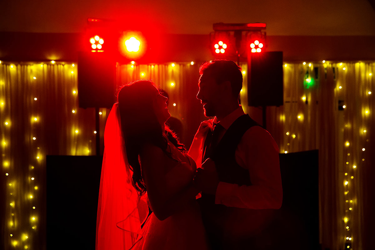 the bride & groom's first dance at Farbridge