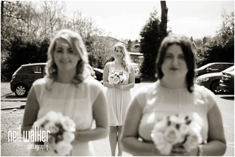 bridesmaids before a Sussex wedding