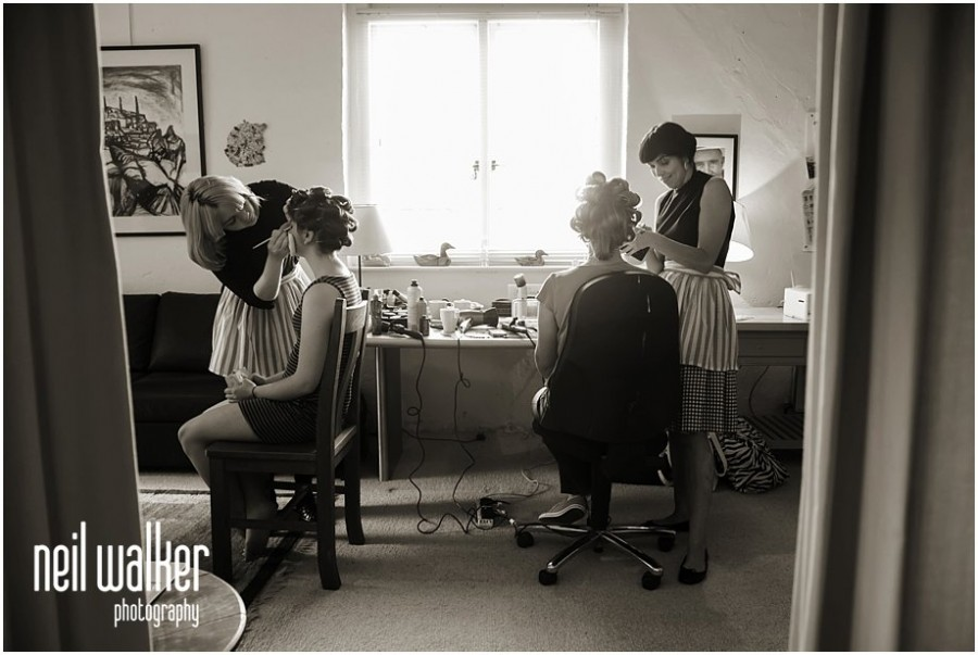 bride getting ready in Sussex