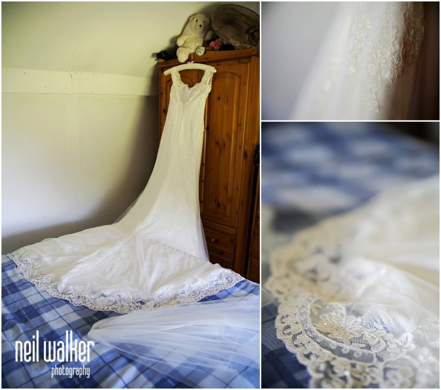 A Sussex bride's dress