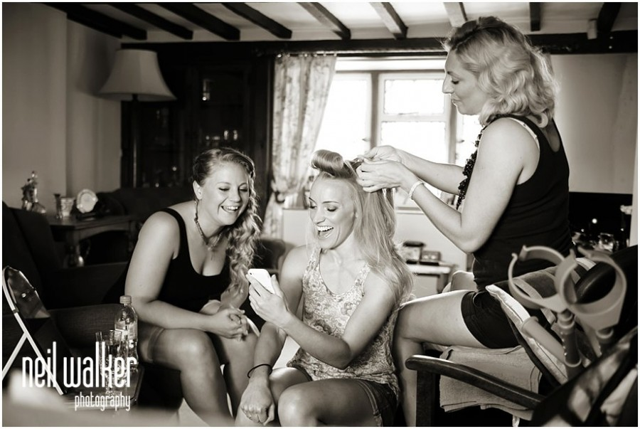 bride preparing for her wedding in Sussex