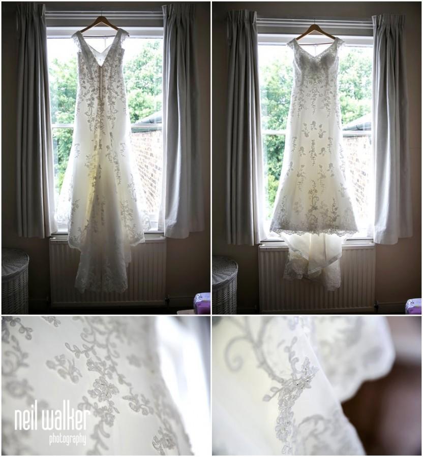 A brides dress
