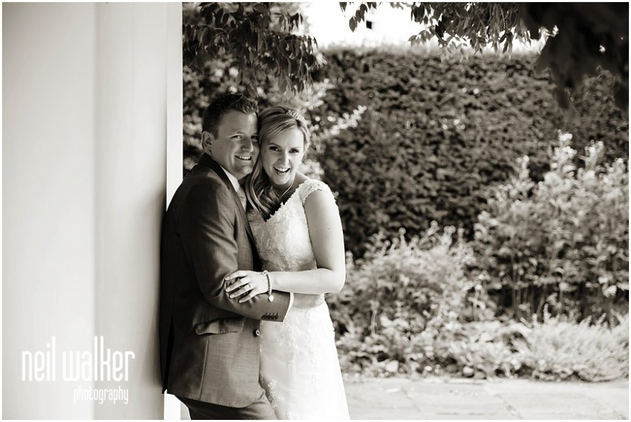 A wedding couple at Pembroke Lodge in Richmond Park