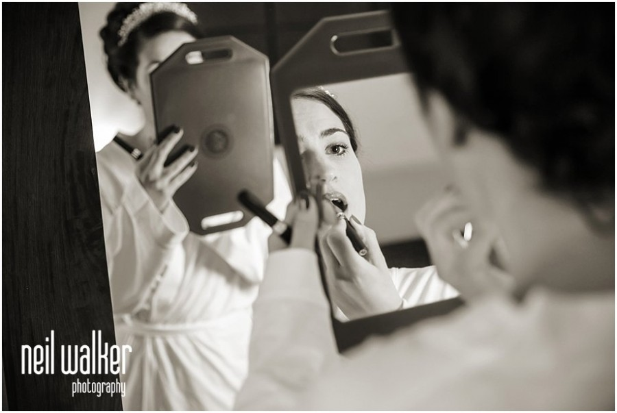 a bride getting ready for her London wedding