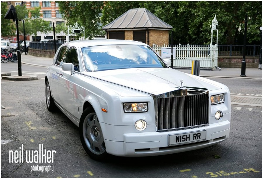 a weddig car for a London wedding