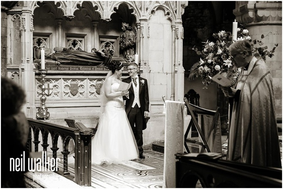 A wedding at St Bartholomew the Great in London