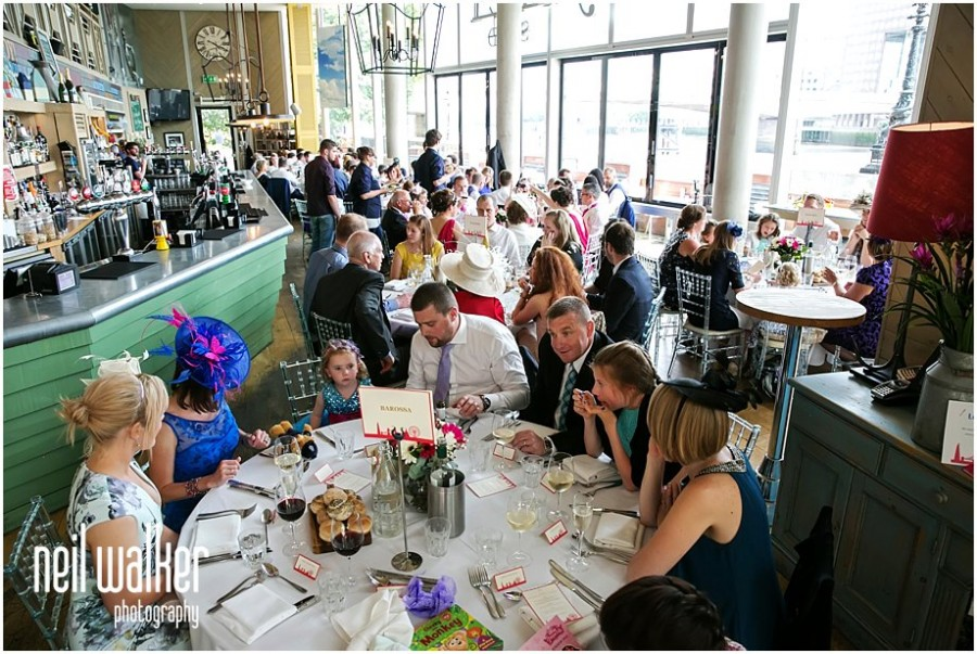 A wedding at The Oyster Shed in London