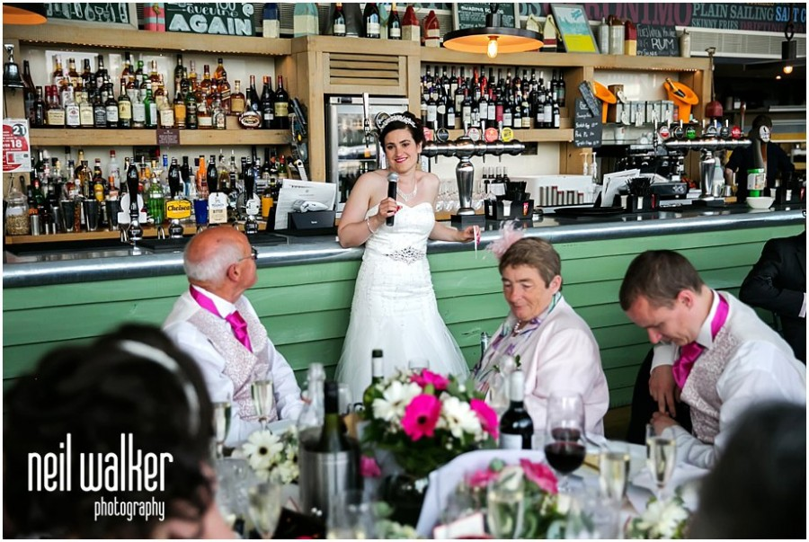 Speeches at a wedding at The Oyster Shed in London