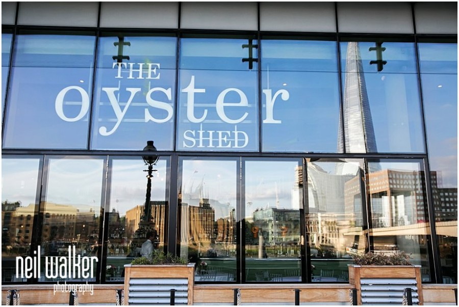 The front of the Oyster Shed in London
