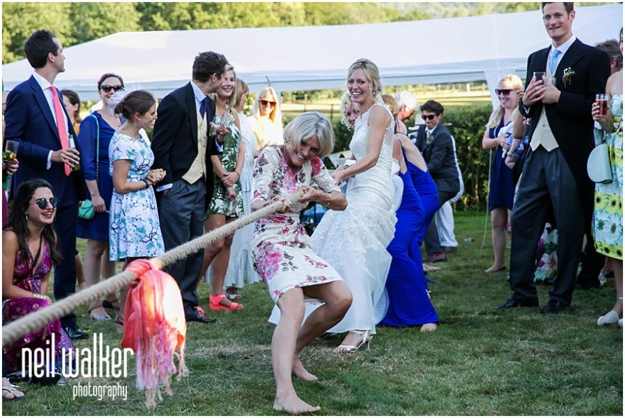 Sussex wedding tug of war