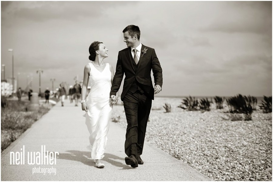 Sussex beach wedding