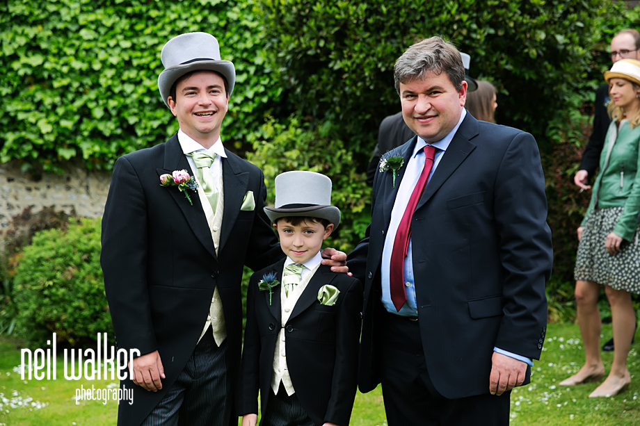 the groom with a page boy