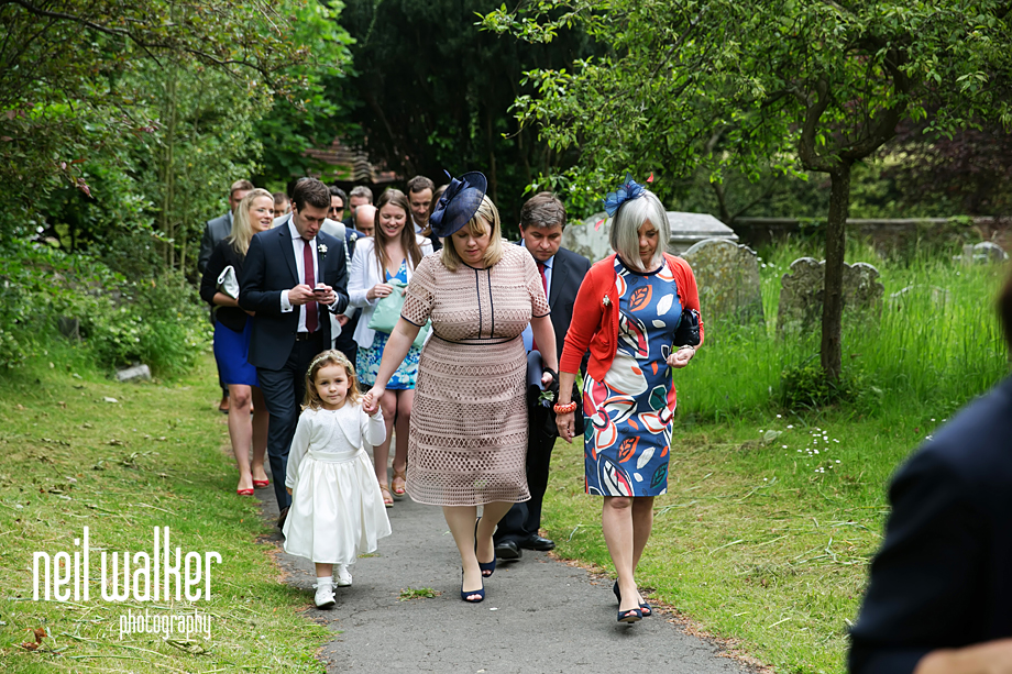 guests arriving at the church