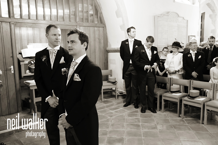 the groom waiting