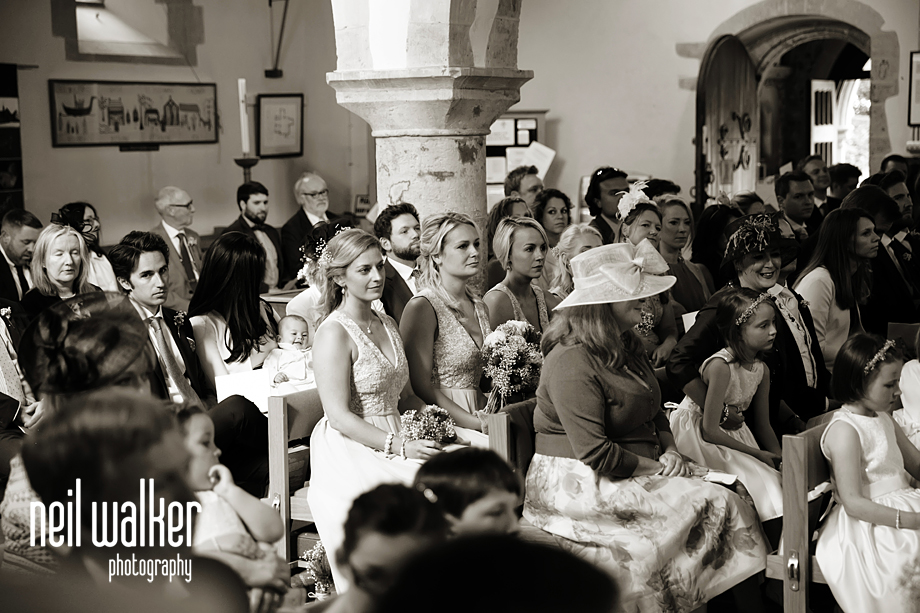 the guests watch the wedding