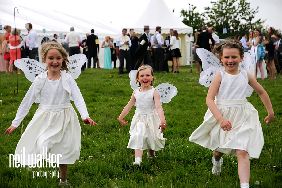 flower girls running
