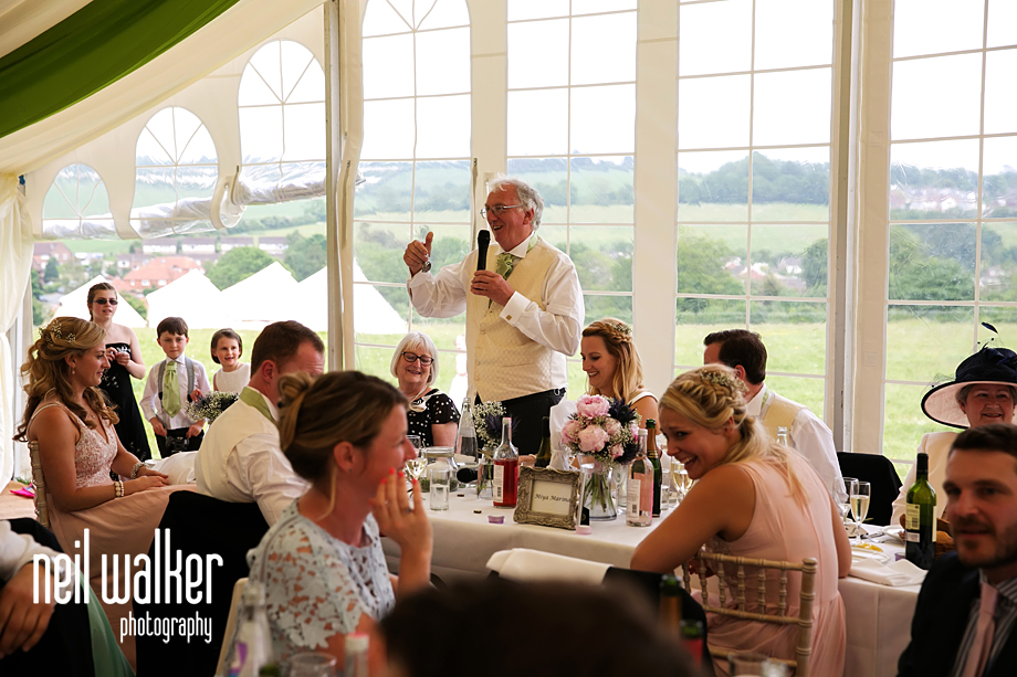 Father of the bride talking