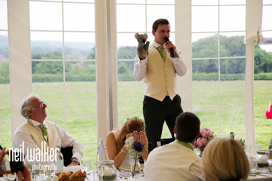 the groom speaking
