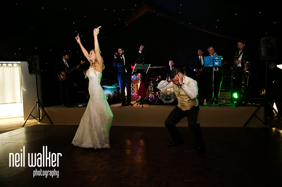 the bride & groom dance seperately