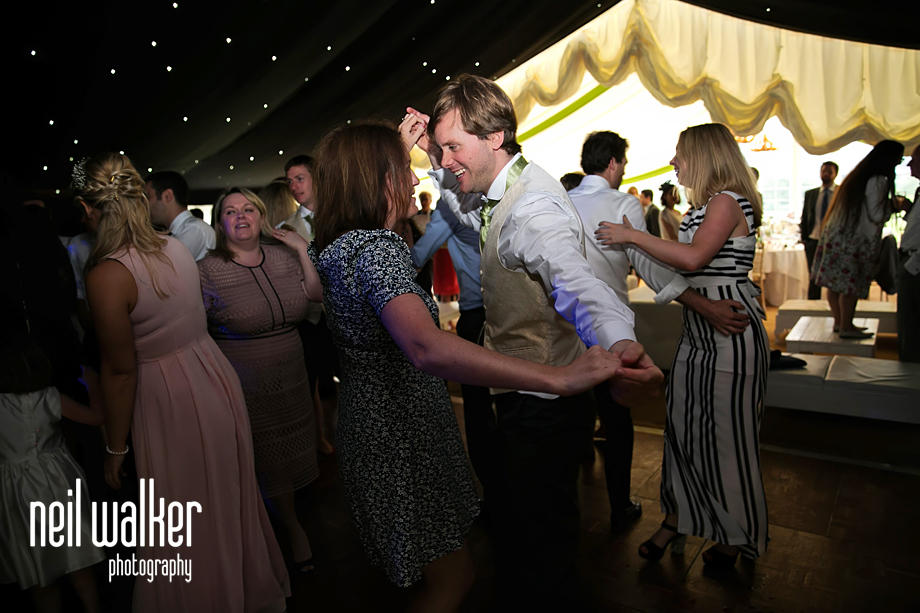 guests join in the dancing