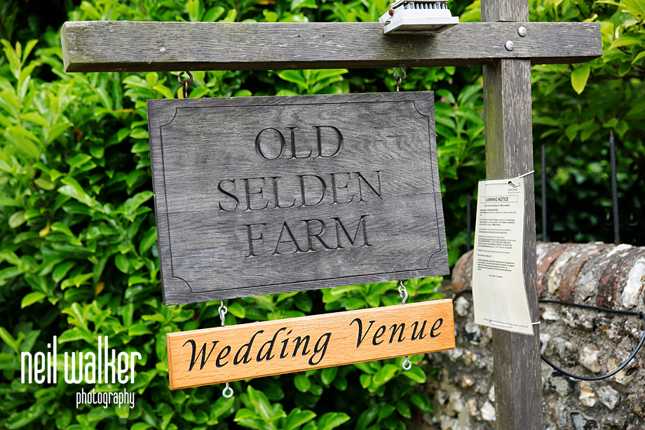 Selden Barn sign