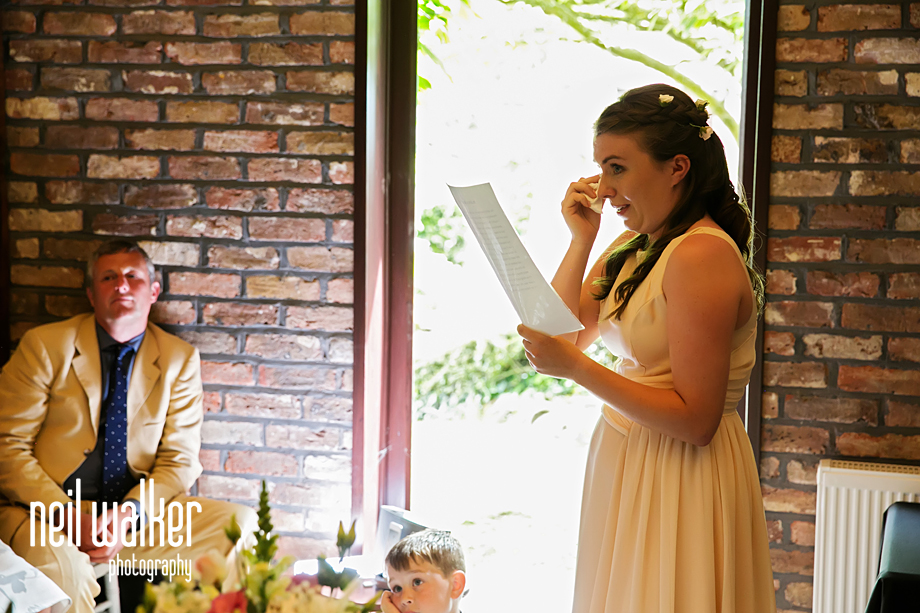 a bridesmaid does a reading