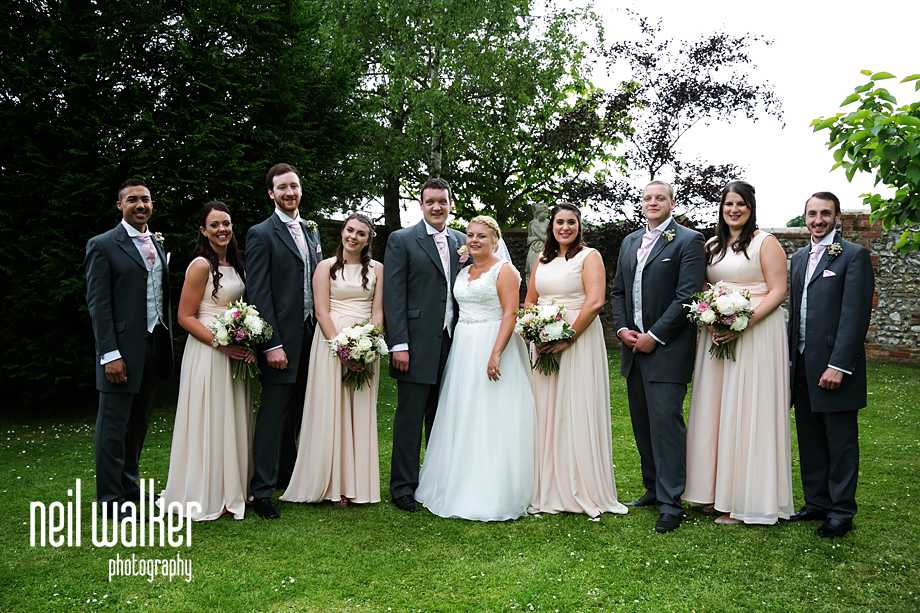 a bridal party group shot
