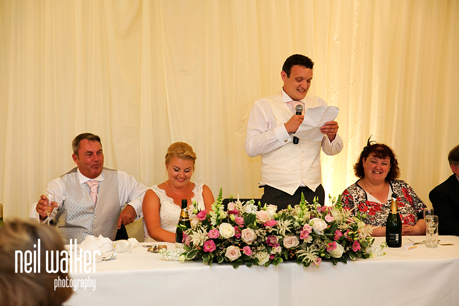the groom doing his speech