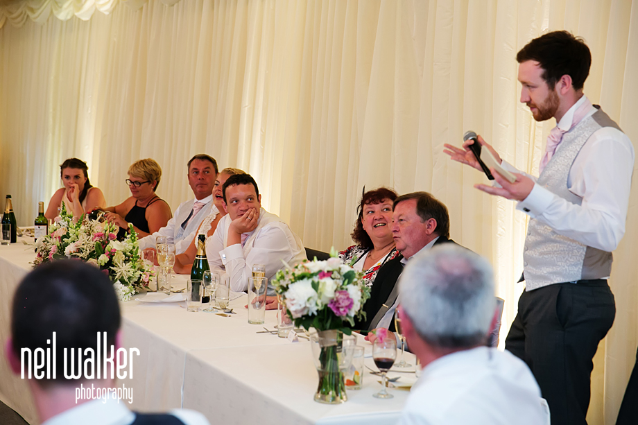 the best man doing his speech